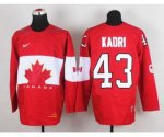 nhl team canada #43 kadri red [2014 world championship]