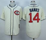 mlb jerseys Chicago Cubs #14 Banks Cream 1929 Turn Back The Clo