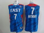 2013 all star new york knicks #7 carmelo anthony blue jerseys