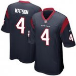 Men's NFL Houston Texans #4 Deshaun Watson Nike Navy 2017 Draft Pick Game Jersey