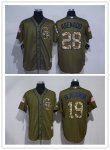 Baseball Colorado Rockies Stitched Green Salute to Service Jersey