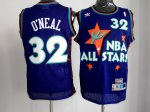 nba 95 all star #32 o'neal purple jerseys