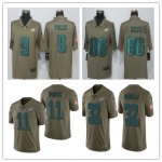 Football Philadelphia Eagles Olive Salute To Service Limited Jersey