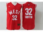 2016 nba all star los angeles clippers #32 blake griffin red red