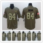 Football Pittsburgh Steelers All Players Option Olive Camo 2017 Salute to Service Limited Jersey