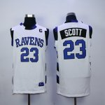 one tree hill ravens #23 nathan scott wihte stitched basketball