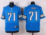 nike detroit lions #71 reiff elite blue jerseys