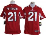 nike nfl arizona cardinals #21 patrick peterson red cheap jersey