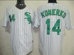 Baseball Jerseys chicago white sox #14 paul konerko white(green