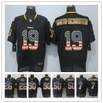 Football Pittsburgh Steelers All Players Option Elite Black USA Flag Fashion Jersey