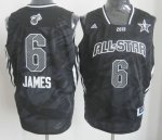 2013 nba all star miami heat #6 lebron james black jerseys