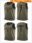 Basketball Brooklyn Nets All Players Option Swingman Green Salute to Service Jersey