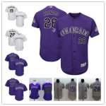 Baseball Colorado Rockies Stitched Cool Base And Flex Base Jersey