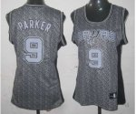 women nba san antonio spurs #9 tony parker grey [static fashion
