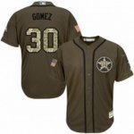 mlb majestic houston astros #30 carlos gomez green salute to service jerseys