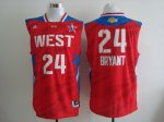 2013 all star los angeles lakers #24 kobe bryant red jerseys
