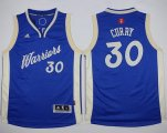 youth nba golden state warriors #30 stephen curry blue 2015-2016 christmas day stitched jerseys