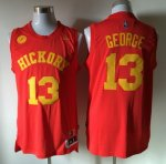 nba pacers hickory #13 george swingman red jerseys