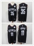 Basketball Brooklyn Nets #11 Kyrie Irving #35 Kevin Durant All Players Option Swingman City Edition Jersey