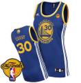 women nba golden state warriors #30 stephen curry swingman blue road 2015 the finals patch jerseys
