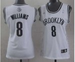 women nba brooklyn nets #8 williams white [revolution 30 swingma