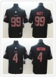 Football Houston Texans Stitched Black Impact Limited Rush Jersey
