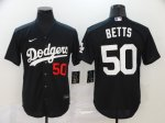 Men's Los Angeles Dodgers #50 Mookie Betts Black 2020 Stitched Baseball Jersey
