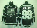 nhl los angeles kings #99 gretzky full black [2012 stanley cup]