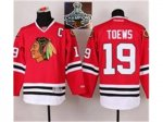 NHL Chicago Blackhawks #19 Jonathan Toews with C patch Red 2015