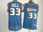 nike nba detroit pistons #33 hill blue cheap jerseys