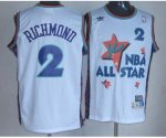 nba 95 all star #2 richmond white jerseys