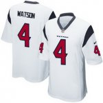 Men's NFL Houston Texans #4 Deshaun Watson Nike White 2017 Draft Pick Game Jersey