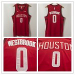 Men's Houston Rockets #0 Russell Westbrook 2019 Stitched Basketball Jersey Earned Edition