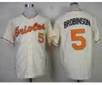 mlb baltimore orioles #5 robinson m&n cream 1970 jerseys [new]