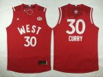 2016 nba all star golden state warriors #30 stephen curry red je
