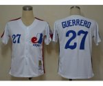 mlb montreal expos #27 guerrero m&n white jerseys