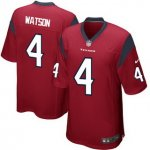 Men's NFL Houston Texans #4 Deshaun Watson Nike Red 2017 Draft Pick Game Jersey