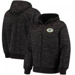 Football Green Bay Packers G III Sports By Carl Banks Discovery Sherpa Full Zip Jacket Heathered Black