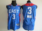 2013 all star miami heat #3 wade blue jerseys