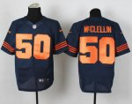 nike nfl chicago bears #50 mcclellin elite blue [number orange][