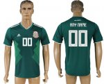 Custom Mexico 2018 World Cup Soccer Jersey Green Short Sleeves