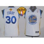 youth nba golden state warriors #30 stephen curry white swingman 2015 the finals patch stitched jerseys