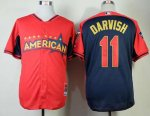 mlb texas rangers #11 darvish red-blue [2014 all star jerseys]