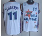 nba 95 all star #11 schrempf white jerseys