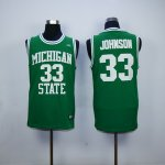 ncaa michigan state #33 johnson green jerseys