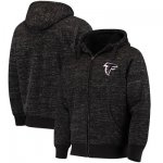 Football Atlanta Falcons G III Sports By Carl Banks Discovery Sherpa Full Zip Jacket Heathered Black