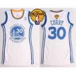 women nba golden state warriors #30 stephen curry white the finals patch dress stitched jerseys
