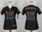 nike women nfl chicago bears #15 brandon marshall fashion black