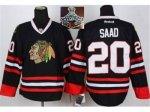 NHL Chicago Blackhawks #20 Saad Black 2015 Stanley Cup Champions