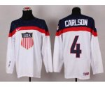 nhl team usa olympic #4 carlson white jerseys [2014 winter olymp